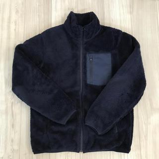 ユニクロ 防風ボアフリースジャケット メンズ Lサイズ ブルー