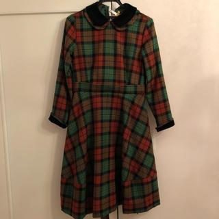 ジェーンマープル(JaneMarple)のWool tartan dormitory dress(ひざ丈ワンピース)