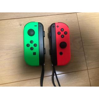 ニンテンドースイッチ(Nintendo Switch)のニンテンドースイッチ ジョイコン セット カラー/ネオングリーンネオンレッド (その他)