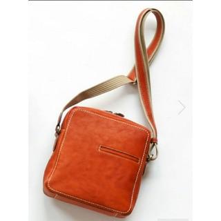 ツチヤカバンセイゾウジョ(土屋鞄製造所)の土屋鞄製造所 新品未使用トーンオイルヌメ ジップトップショルダー 限定品オレンジ(ショルダーバッグ)