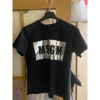 エムエスジイエム(MSGM)のMSGM Tシャツ メタリックシルバー×ブラック(Tシャツ(半袖/袖なし))