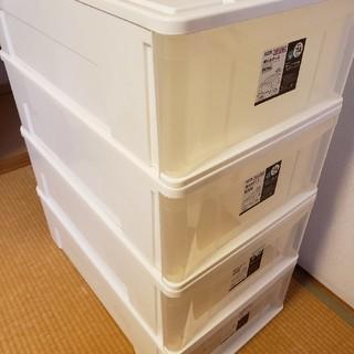 ニトリ(ニトリ)のニトリ 押入れケース ワイド中深型M 4個(ケース/ボックス)
