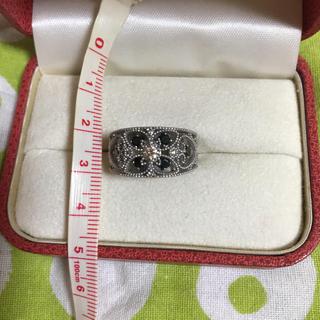 K18WG ブラックダイヤモンド0.50ct リング 15号(リング(指輪))
