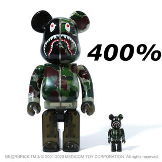 メディコムトイ(MEDICOM TOY)のBE@RBRICK CLEAR ABC CAMO SHARK BAPE グリーン(その他)