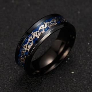 ブラック ステンレス リング 指輪(リング(指輪))