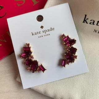 kate spade new york - 新品!ケイトスペード(kate spade)ピアス ビジュー ピンク系