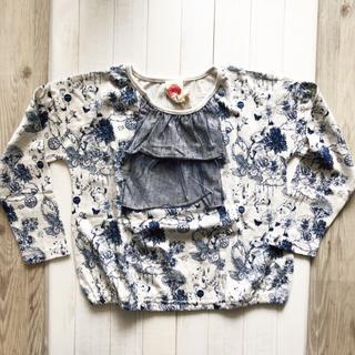 スカラー(ScoLar)の150cmScoLar【チユールレースフリル長袖Tシャツ】(Tシャツ/カットソー)
