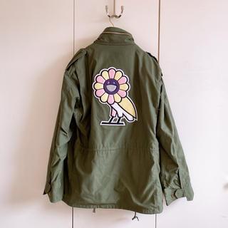 激レア 確実正規 OVO 村上隆 カイカイキキ  M65ジャケット フラワー(ミリタリージャケット)