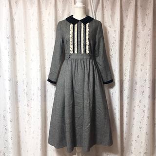 ジェーンマープル(JaneMarple)のJane Marple ジェーンマープル ブリティッシュウールのコレットドレス(ロングワンピース/マキシワンピース)
