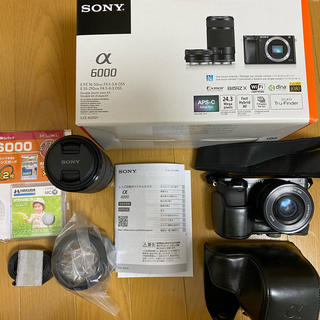ソニー(SONY)のミラーレス 一眼レフカメラ SONY α6000 ブラック(ミラーレス一眼)