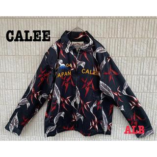 キャリー(CALEE)の【CALEE】キャリー EXILE 刺繍 背面ロゴ 龍 総柄 彼岸花 薔薇 古着(ブルゾン)