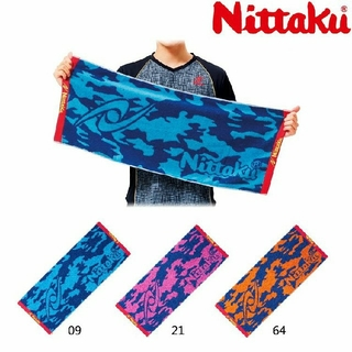 ニッタク(Nittaku)のニッタク カモフラスポーツタオル オレンジ 卓球 試合用(卓球)