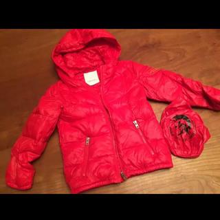 ディーゼル(DIESEL)の貴重 DIESEL KID ダウンジャケット 軽い 温かい 赤 コンパクト収納(ジャケット/上着)