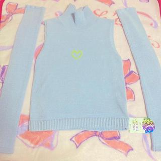オープニングセレモニー(OPENING CEREMONY)のOPENING CEREMONY×OK ニットトップス ライトブルー(Tシャツ(半袖/袖なし))