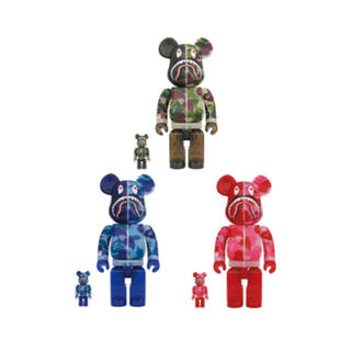 アベイシングエイプ(A BATHING APE)のBAPE BE@RBRICK ABC CAMO SHARK 100%&400%(その他)