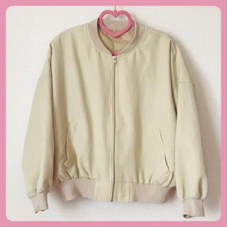 メルロー(merlot)の【ellerie】ベージュMA-1ジャケット(ブルゾン)