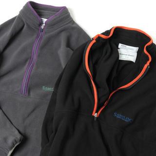 コモリ(COMOLI)のDAIRIKU Oversized Fleece Sweater BLACK (スウェット)