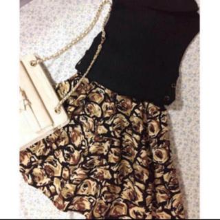 フレイアイディー(FRAY I.D)の花柄スカート(ミニスカート)