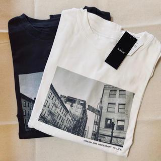 フリークスストア(FREAK'S STORE)の【新品タグ付き】フロントフォトロンT【ブラックorホワイト】(Tシャツ(長袖/七分))