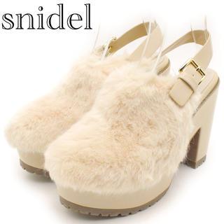 snidel - 【SNIDEL】美品 ファーパンプス サボ 厚底ブーツ ピンク
