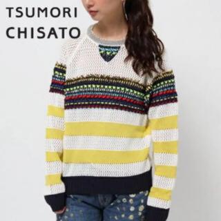 ツモリチサト(TSUMORI CHISATO)の【TSUMORI CHISATO】定価3万円 ステッチニット 長袖トップス(ニット/セーター)