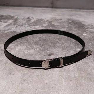 サンシー(SUNSEA)のSUNSEA 19ss Cowboy Boots Belt(ベルト)