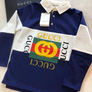グッチ(Gucci)のGUCCI グッチ プリントポロシャツ長袖 サイズ5  5歳 110㎝(Tシャツ/カットソー)