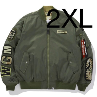 A BATHING APE - 希少 2XL BAPE ALPHA REVERSIBLE MA-1