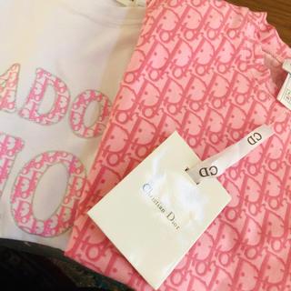 クリスチャンディオール(Christian Dior)のタグ付き未使用✨クリスチャンディオール 🎀 トロッター Tシャツ(右側)(Tシャツ(半袖/袖なし))