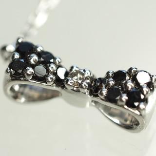 ポンテヴェキオ(PonteVecchio)の質流れ品WF!ポンテヴェキオ ブラックダイヤ ダイヤネックレス K18WG (ネックレス)