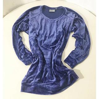 ウィーエスシー(WeSC)のWeSC ベロア トップス ブルー ロング丈 サイズ メンズ XS(Tシャツ/カットソー(七分/長袖))