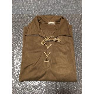 ジュンメン(JUNMEN)の新品未使用 JUNMEN ジュンメン ベロア風長袖編み込みシャツ Mサイズ(シャツ)