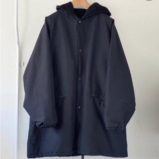 コモリ(COMOLI)の新品・未使用 comoli コットンシルクフーデッドコート サイズ3(モッズコート)