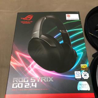 エイスース(ASUS)のワイヤレスゲーミングヘッドセット ROG STRIX GO 2.4(PC周辺機器)