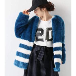 ジャーナルスタンダード(JOURNAL STANDARD)のMolliolii Stripe jacket エコファー コート(毛皮/ファーコート)