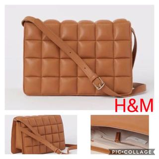 エイチアンドエム(H&M)の新品タグ付き H&M♡キルティングショルダーバッグ クラッチバッグ キャメル(ショルダーバッグ)