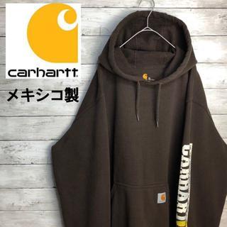 carhartt - 【希少カラー】90s 古着 カーハート パーカー スリープロゴ アースカラー