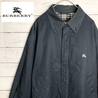 バーバリー(BURBERRY)の90s 古着 バーバリー スウィングトップ 刺繍ロゴ.(ナイロンジャケット)