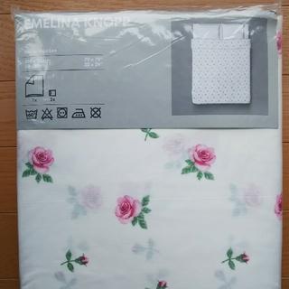 イケア(IKEA)のIKEA EMELINA KNOPP 掛け布団カバー&枕カバー(シーツ/カバー)