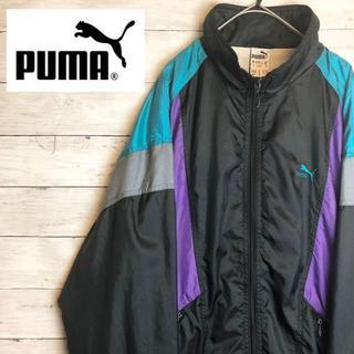 プーマ(PUMA)の90s 古着 プーマ ナイロンジャケット 刺繍ロゴ クレイジーパターン.(ナイロンジャケット)