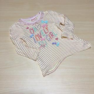 メゾピアノ(mezzo piano)の処分価格♡メゾピアノ♡柔らかガーゼ長袖カットソー100(Tシャツ/カットソー)