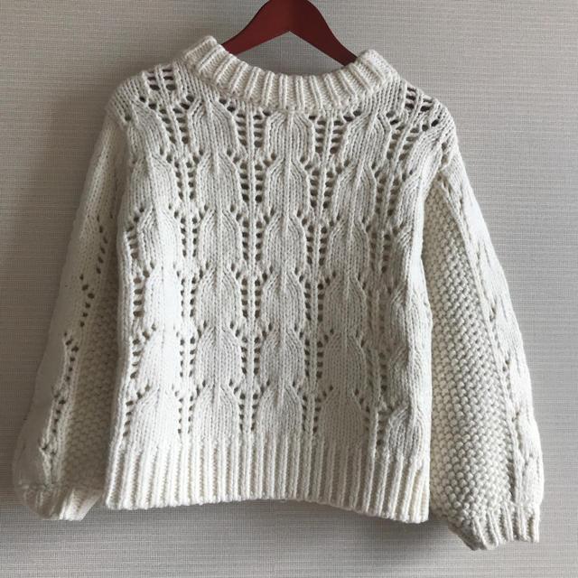 DOUBLE STANDARD CLOTHING(ダブルスタンダードクロージング)の去年AW完売!ダブスタ ケーブルニット レディースのトップス(ニット/セーター)の商品写真