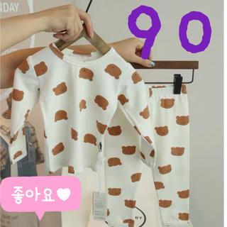 *新品*くまさんセットアップ*パジャマ*韓国子供服*ルームウェア*90*