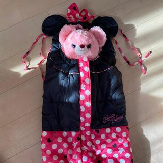 ディズニー(Disney)のベビーカー着ぐるみフットマフミニーちゃん♡(ベビーカー/バギー)