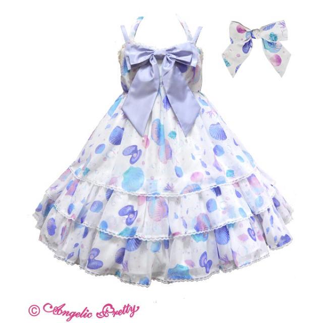 Angelic Pretty(アンジェリックプリティー)のangelic pretty dream marine ジャンパースカート シロ レディースのワンピース(ひざ丈ワンピース)の商品写真