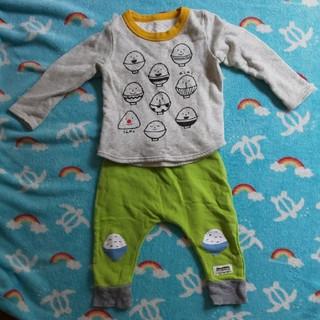 アカチャンホンポ(アカチャンホンポ)のパジャマ 長袖 ごはん 80 90cm(パジャマ)
