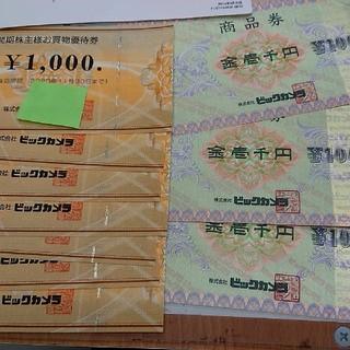 ビックカメラ 商品券 株主優待 10000円分  コジマ ソフマップ