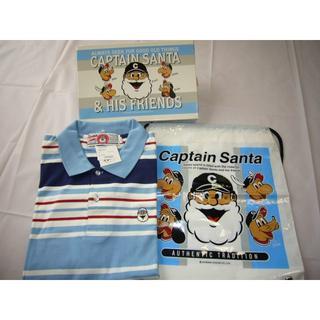 CAPTAIN SANTA - 未使用/キャプテンサンタ/ジョイマークデザイン/ポロシャツ /半袖 /ボーダー