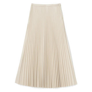 GRL - 白石麻衣 レザープリーツスカート アイボリー