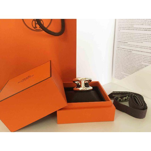 Hermes(エルメス)のHERMES エルメス オスモズ リング 19号 Osmose GM #59 メンズのアクセサリー(リング(指輪))の商品写真